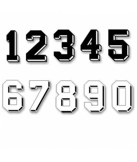 NUMEROS TERMOADHESIVOS PEQUEÑOS (8 cm), u